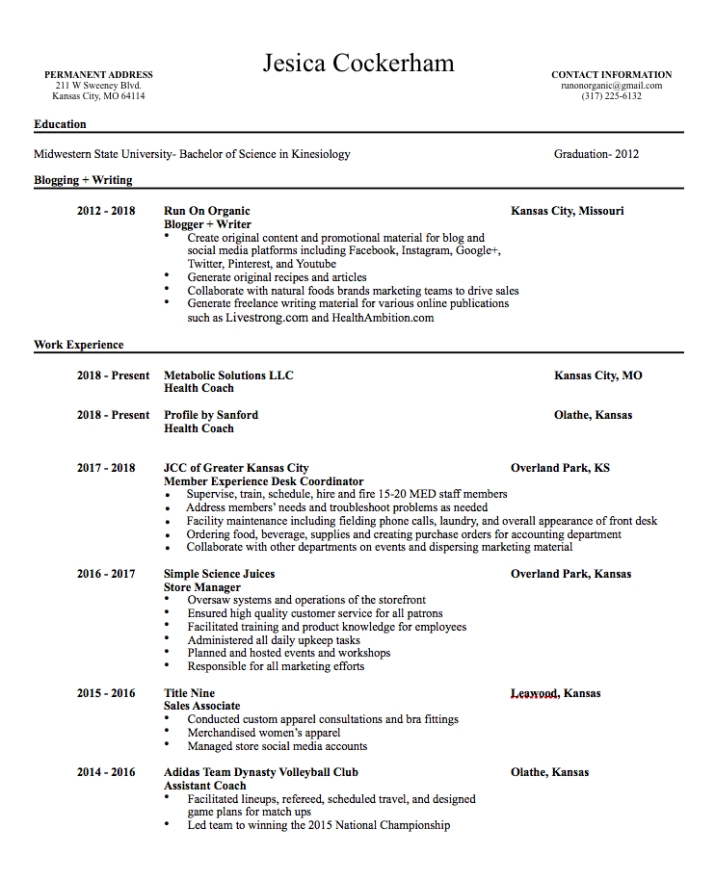 Resume Screenshot for ROO